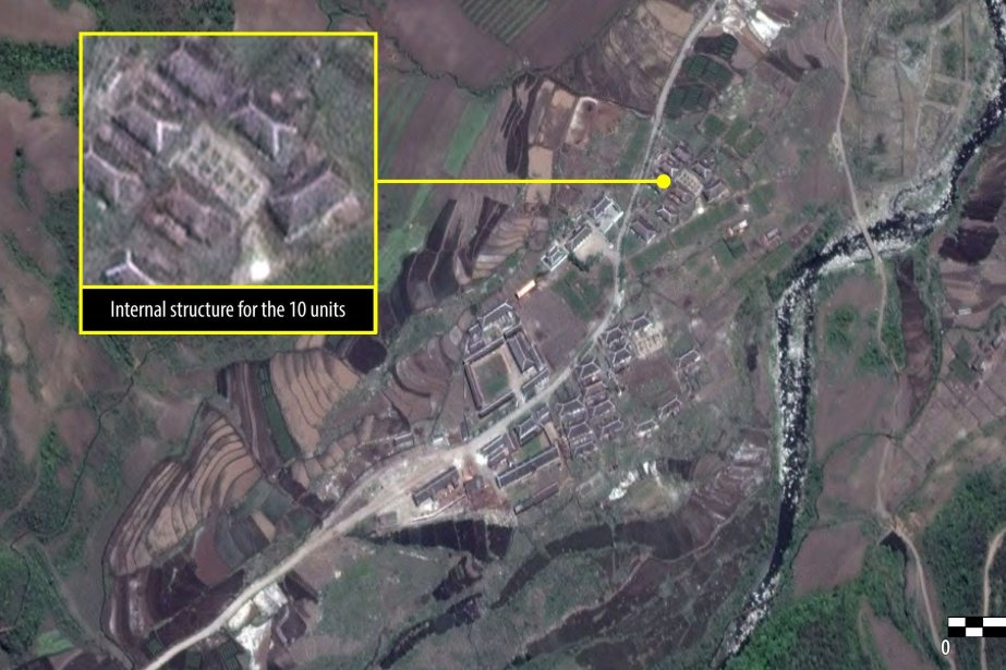 Des images satellites du camp 16.... (Photo AFP)