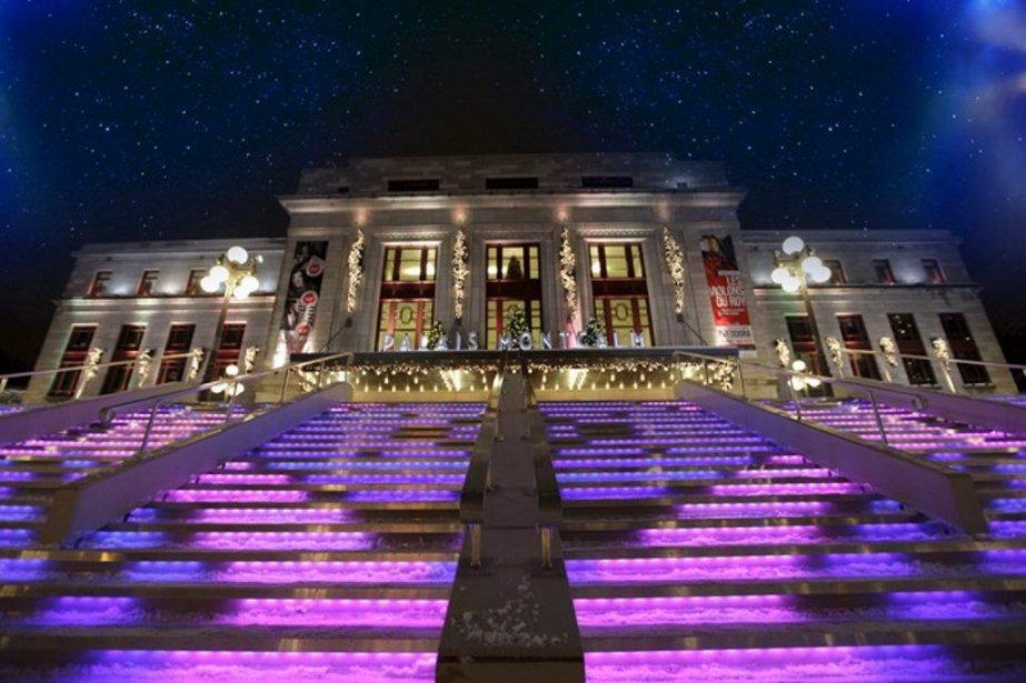L'escalier de cristal sera de retour devant le... (Photo fournie par la Ville de Quebec)