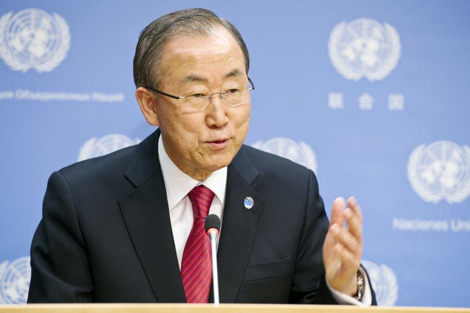 Le secrétaire général de l'ONU BanKi-moon.... (Photo Mark GARTEN, AFP)