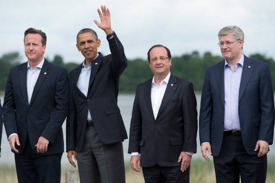 Le premier ministre britannique David Cameron, le président... (PHOTO ARCHIVES LA PRESSE CANADIENNE)