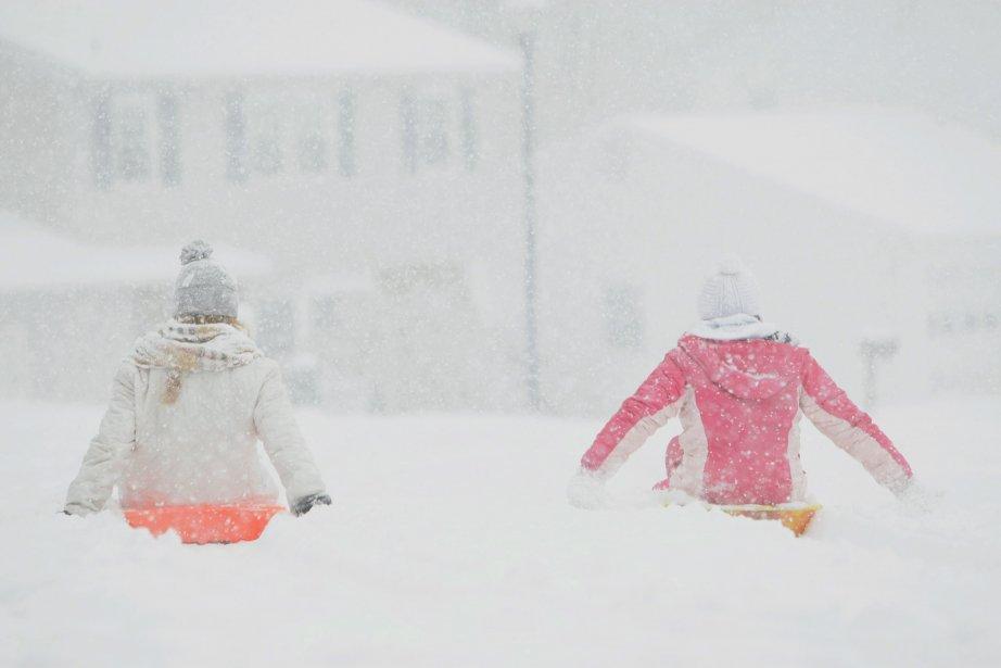Une tempête hivernale a amené un mélange de neige,... (Photo Suchat Pederson, AP)