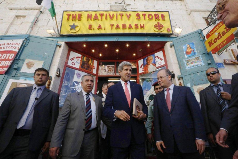 Selon les Palestiniens, le secrétaire d'État américain John... (PHOTO JASON REED, ARCHIVES REUTERS)