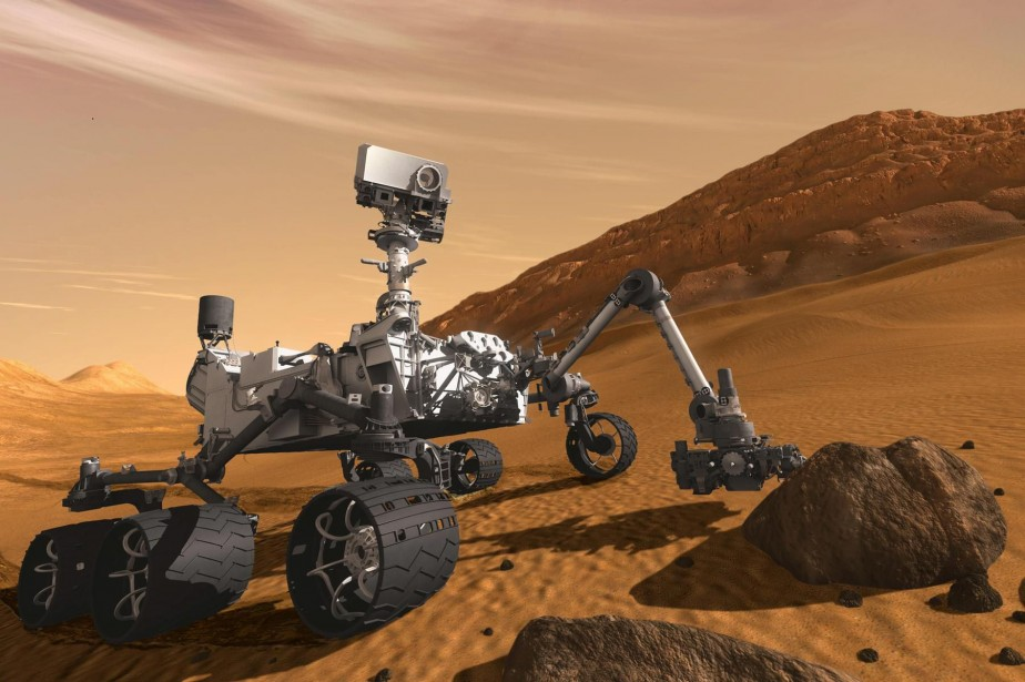 Curiositys'était posé sur l'équateur martien le 6 août... (Image fournie par la NASA)