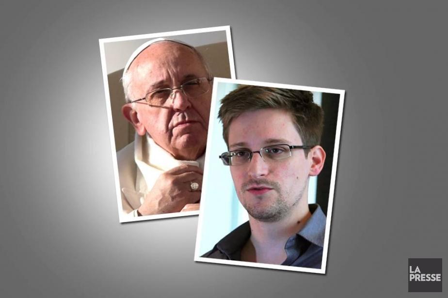 Time a hésité entre Edward Snowden et le... (Photomontage La Presse)