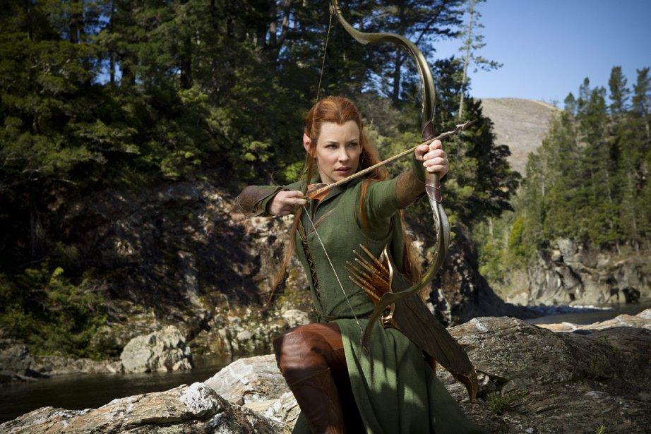 L'actrice canadienne Evangeline Lilly dans le filmLe Hobbit:... (Photo fournie par Warner Bros Pictures)