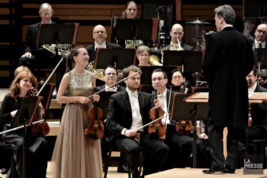 La violoniste Yolanda Bruno a interprété mercredi le... (Photo: Bernard Brault, La Presse)