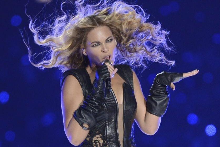 Beyoncé lors de son spectacle au Super Bowl... (Photo: archives AFP)