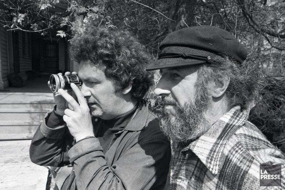 Claude Jutra et Michel Brault sur le plateau... (PHOTO ARCHIVES LA PRESSE)