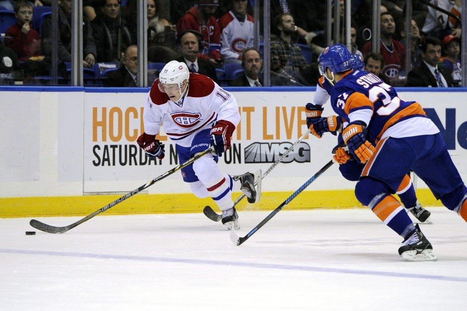 Brendan Gallagher, du Canadien, fait une incursion en... (Photo Kathleen Malone-Van Dyke, AP)