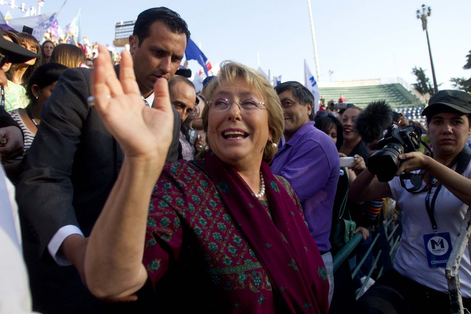 Michelle Bachelet... (Photo Claudio Reyes, AFP)