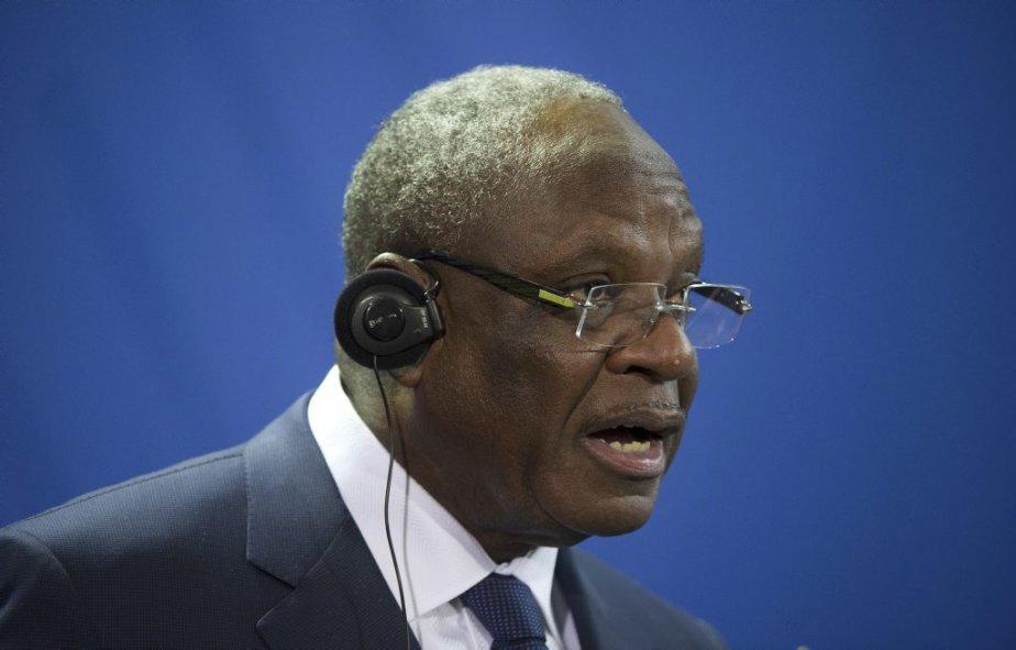 Le président malien Ibrahim Boubacar Keita... (Photo DAVID GANNON, AFP)