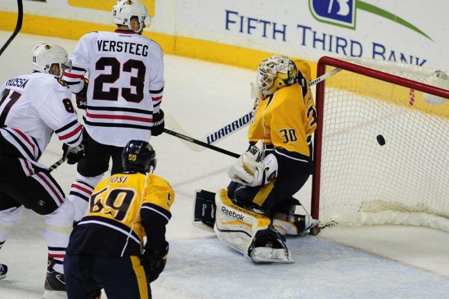Duncan Keith a inscrit un but et une aide et il a guidé les... (Photo: Reuters)