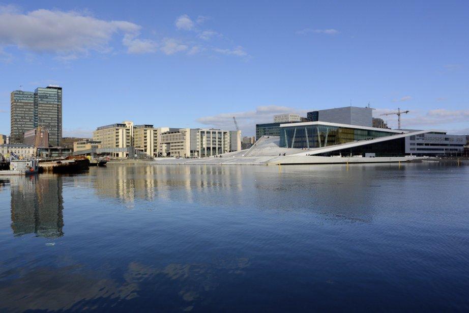 Inauguré en 2008, l'Opéra d'Oslo est aujourd'hui un des emblèmes de la ville. (Photo Bernard Brault, La Presse)