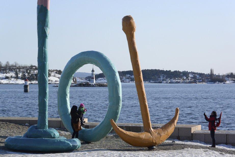 Près du musée Astrup Fearnley, sur le front de mer de la capitale norvégienne. (Photo Bernard Brault, La Presse)