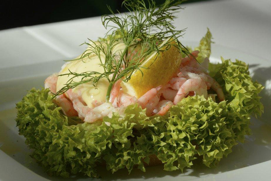 Petit plat aux saveurs nordiques au restaurant de l'opéra. (Photo Bernard Brault, La Presse)