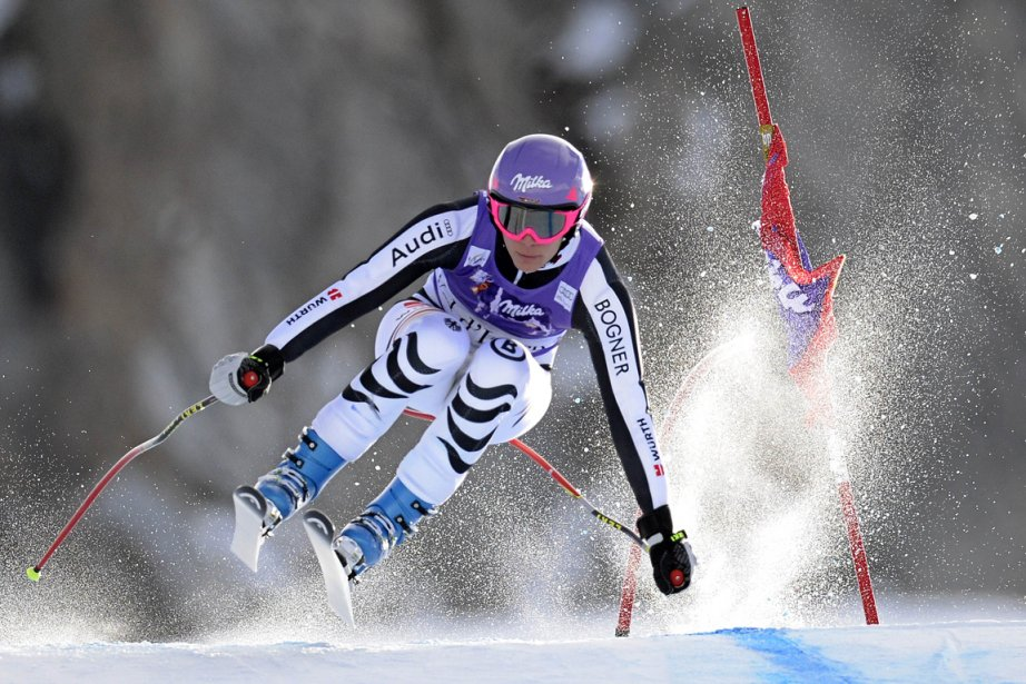 Maria Hoefl-Riesch... (Photo Philippe Desmazes, AFP)