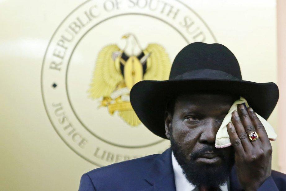 Le président sud-soudanais Salva Kiir.... (PHOTO GORAN TOMASEVIC, REUTERS)