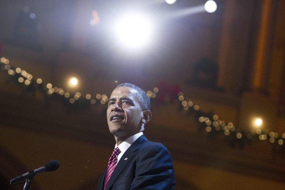 La Maison-Blanche a prévenu jeudi que Barack Obama mettrait son... (Photo AFP)