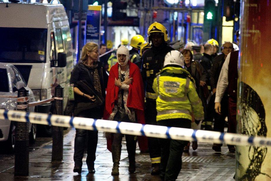 Plusieurs des blessés ont été vus portant des...