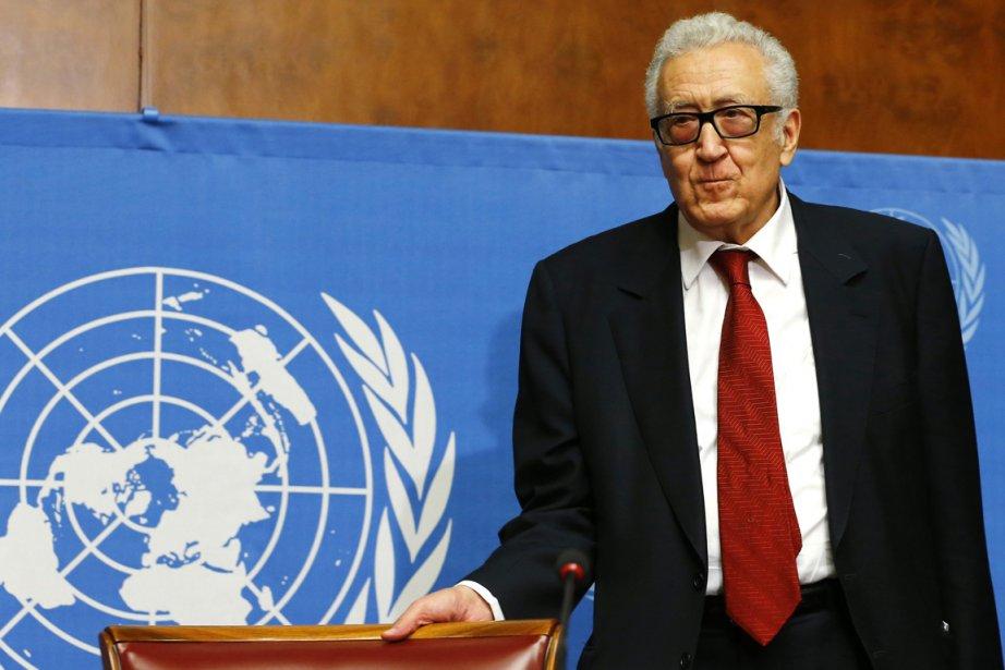 L'émissaire spécial de l'ONU Lakhdar Brahimi.... (PHOTO DENIS BALIBOUSE, REUTERS)