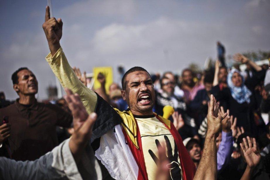 Des Frères musulmans et des partisans de Morsi... (Photo AFP)