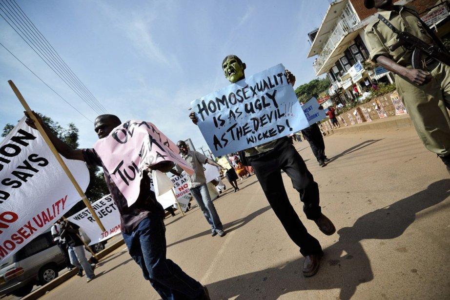 En décembre 2009, des manifestants anti-gais avaient défilé... (Photo Marc Hofer, archives The New York Times)