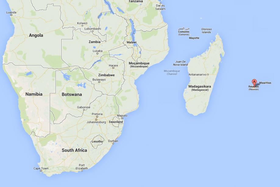 L'île de la Réunion.... (Image tirée de Google Maps)