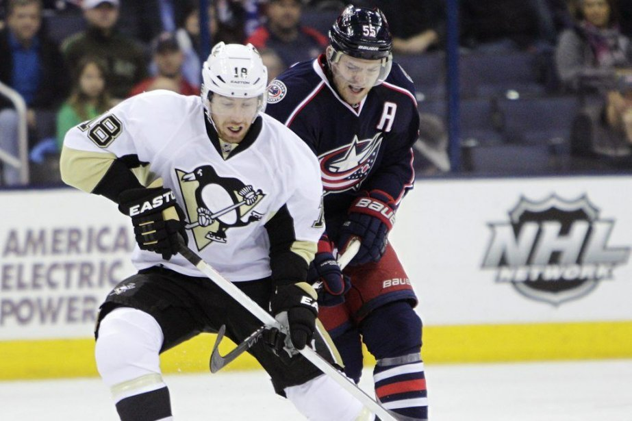 Pour James Neal (18), il s'agissait de son... (PHOTO JAY LAPRETE, ASSOCIATED PRESS)