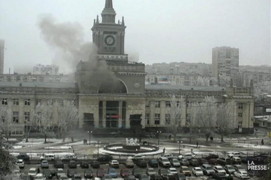 Une victime de l'explosion à la gare de... (Photo AP)