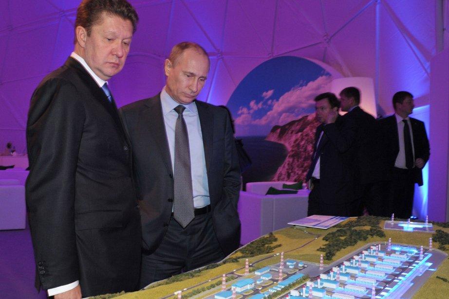 La production du géant gazier Gazprom a baissé... (Photo ALEXEI NIKOLSKY, AFP)