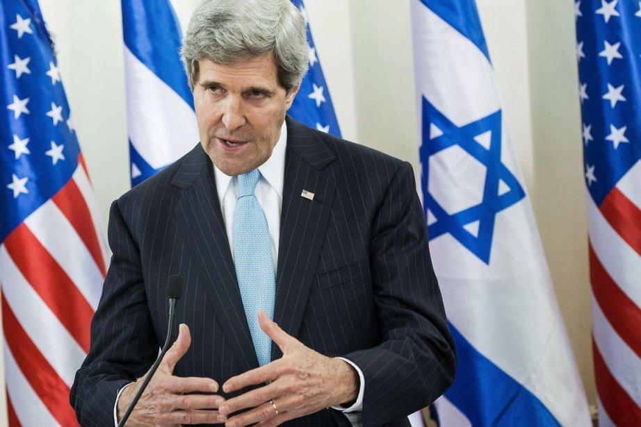 Le secrétaire d'État américain, John Kerry.... (PHOTO BRENDAN SMIALOWSKI, AFP)