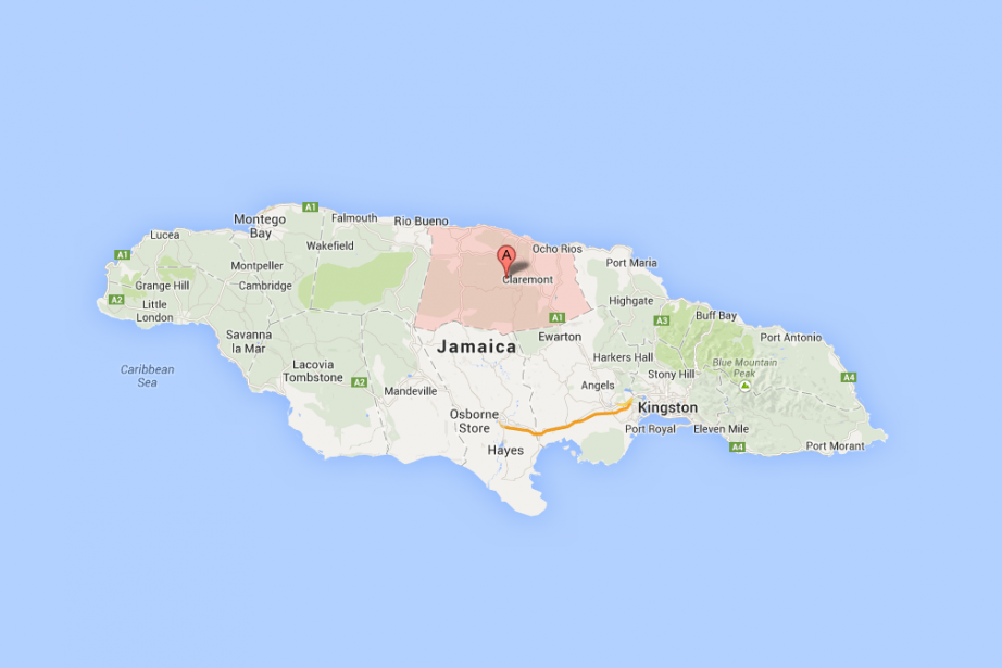 Saint Ann, Jamaïque.... (Photo tirée de Google Maps)