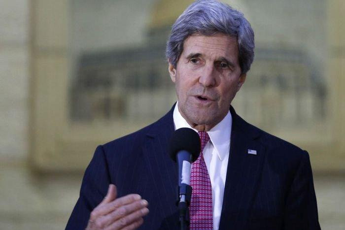 John Kerry... (PHOTO MOHAMAD TOROKMAN, REUTERS)