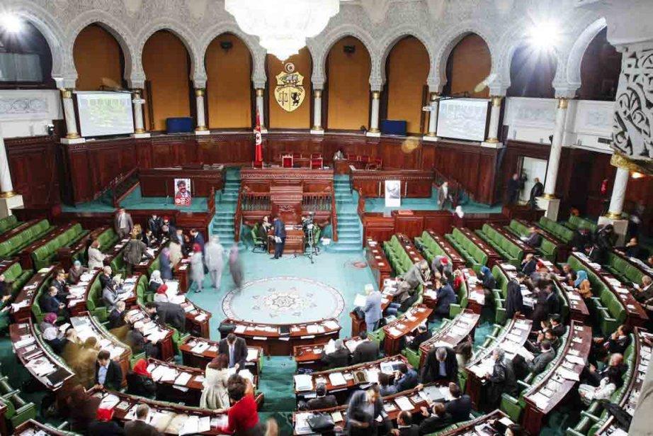 L'Assemblée nationale constituante tunisienne.... (Photo Aimen Zine, AP)