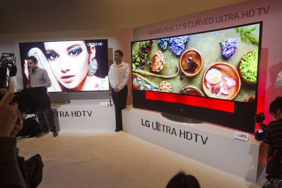 LG a présenté lundi à Las Vegas un... (PHOTO STEVE MARCUS, REUTERS)