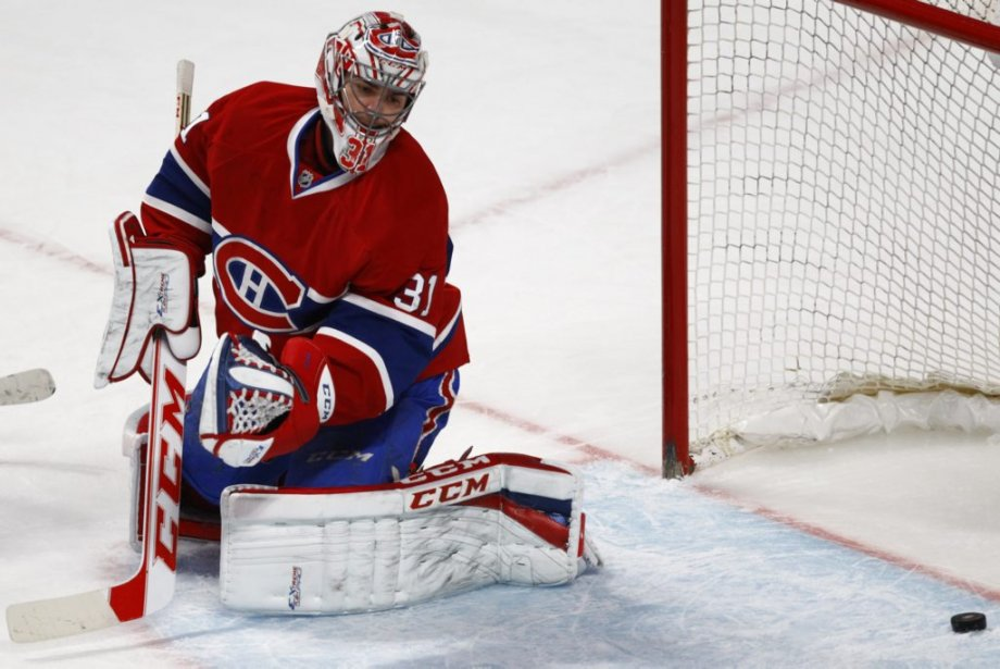 Sean Bergenheim a déjoué Carey Price en fin de 1re période. (Photo: Olivier Jean, La Presse)