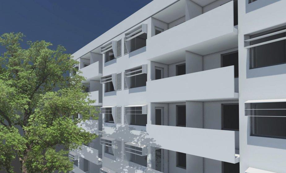 Les logements sociaux que conçoivent actuellement les architectes de l'OEUF et de l'agence Giasson Farregut s'inspireront eux aussi du standard Passive House. (Illustration fournie par l'OEUF)