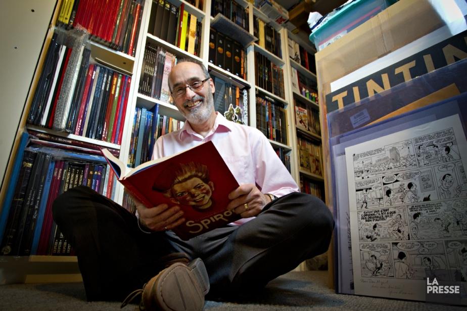 Michel Desgagnés au milieu de sa collection de... (Photo: Olivier Jean, La Presse)