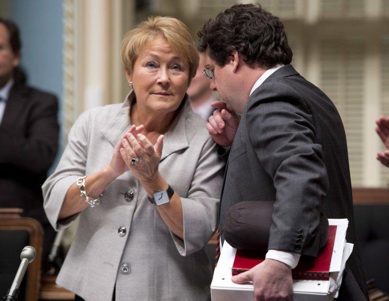 La première ministre du Québec, Pauline Marois, et... (Photo Jacques Boissinot, archives La Presse Canadienne)