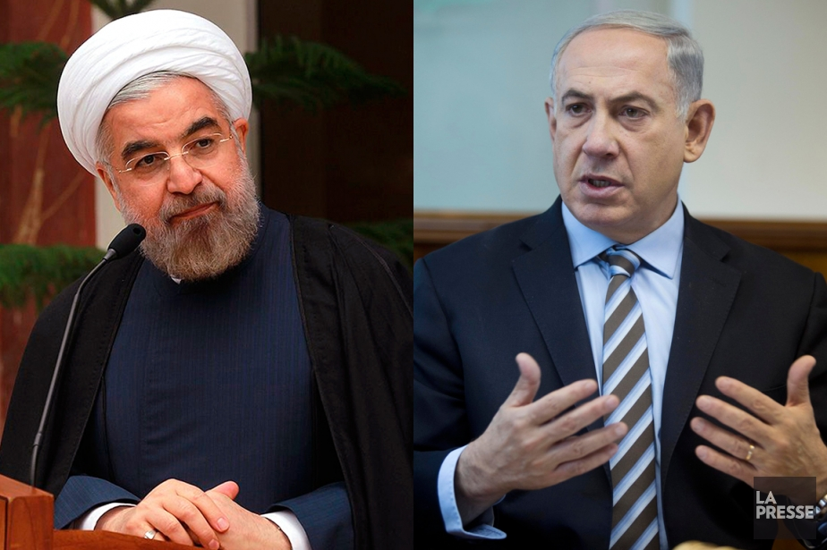 Le président iranien Hassan Rohani (à gauche) et... (Photos AFP et AP, photomontage La Presse)