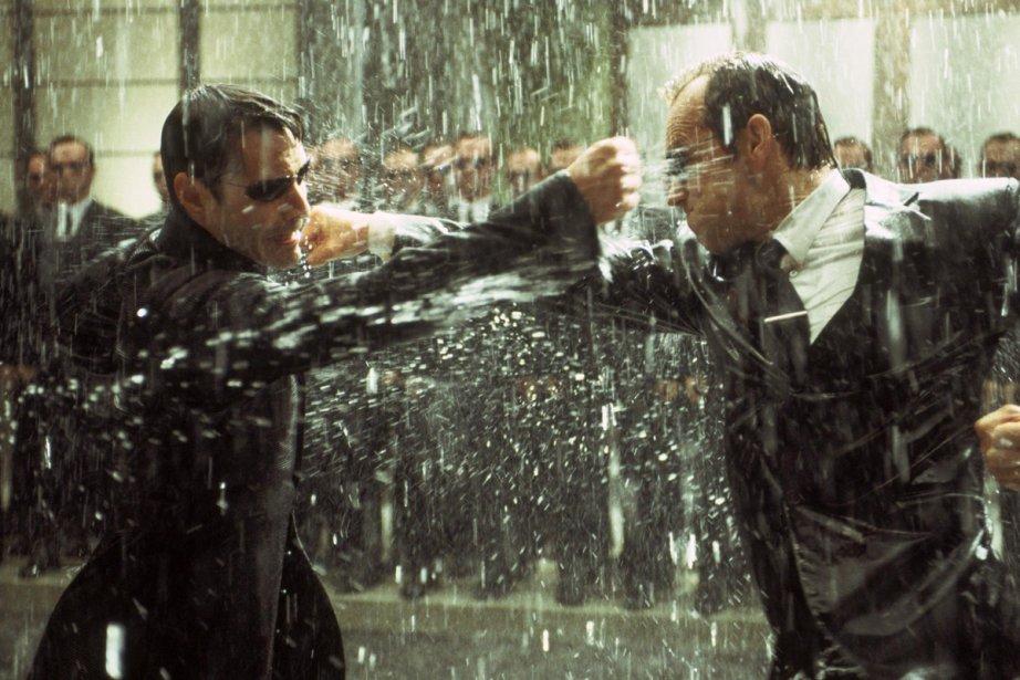 Keanu Reeves et Hugo Weaving dans The Matrix... (Photo: fournie par Warner Bros.)