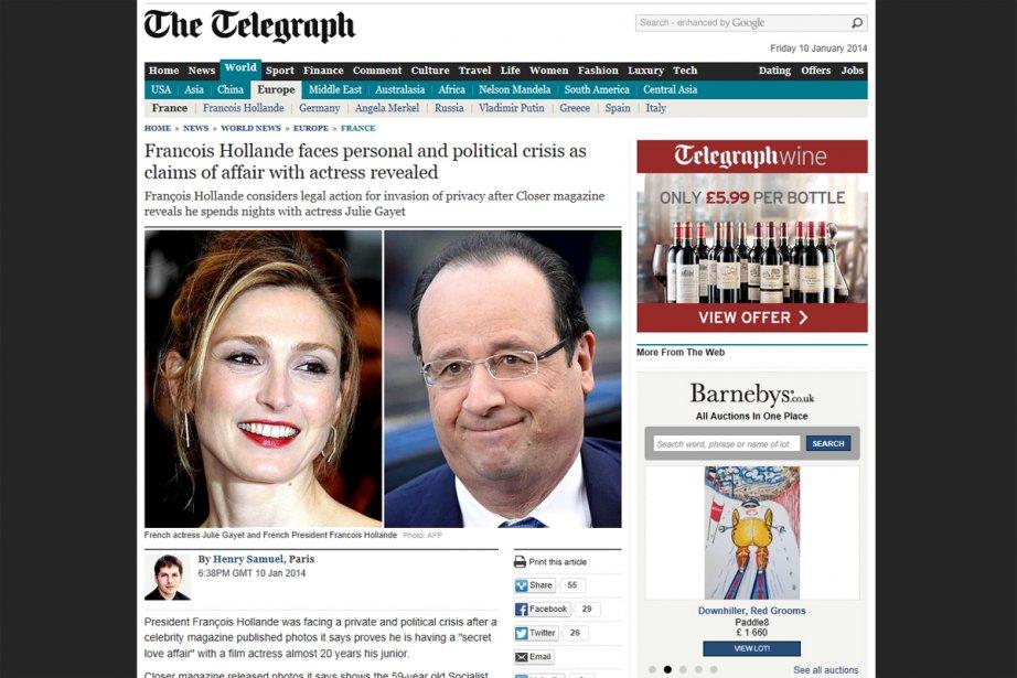 Le site du Daily Telegraph...