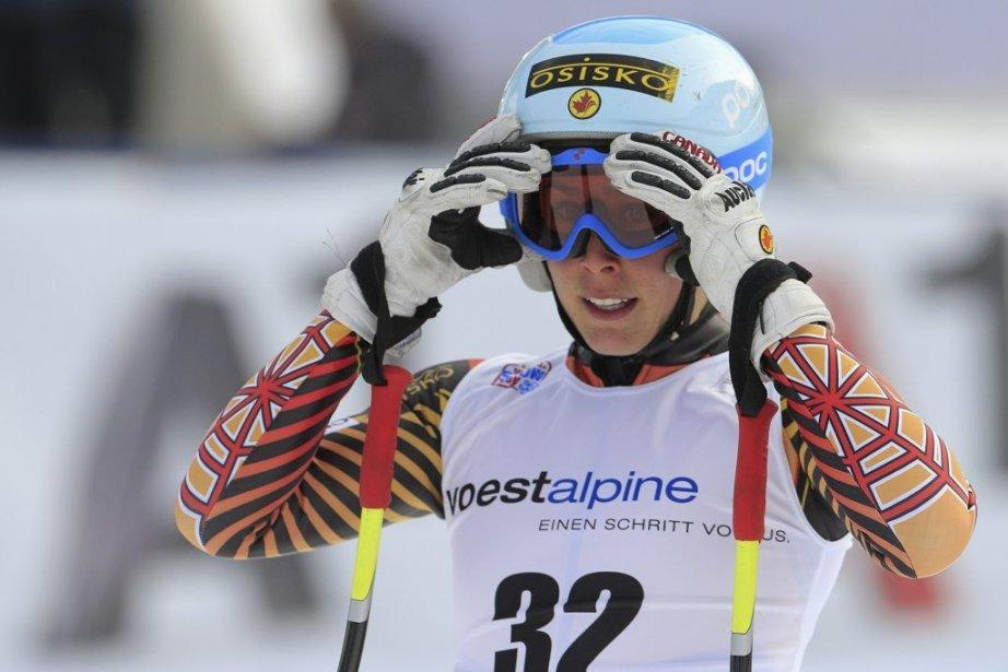 Marie-Michèle Gagnonétait vraiment enthousiaste face à sa prestation.... (PHOTO AFP)