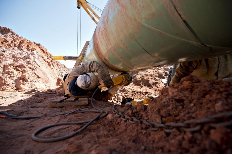 L'oléoduc Keystone XL acheminerait des millions de barils... (Photo Daniel Acker, archives Bloomberg)