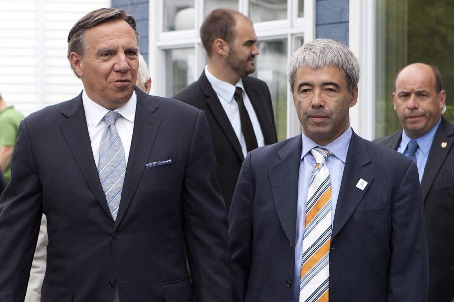 Le chef de la Coalition avenir Québec, François... (Archives La Presse Canadienne)