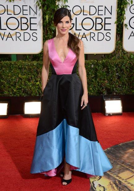 Sandra Bullock, nominée dans la catégorie «Meilleure actrice, film dramatique» pour son rôle dans Gravity. (Photo Jordan Strauss, AP)