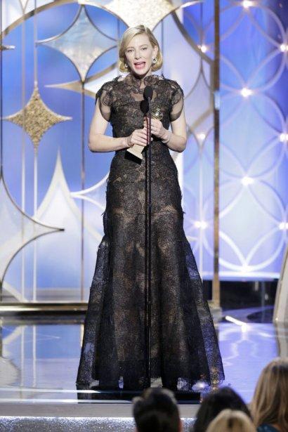 Cate Blanchett a remporté le Golden Globe de la meilleure actrice dans un film dramatique pour Blue Jasmine de Woody Allen. (AP)