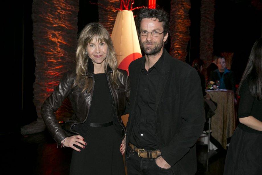 La réalisatrice, scénariste et productrice Louise Archambault en compagnie de Marc Thibodeau, journaliste à La Presse. (Hugo-Sébastien Aubert, La Presse)