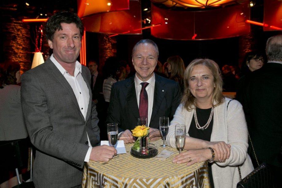 Yves Boisvert, Alain Dubuc et Nathalie Petrowski, chroniqueurs à La Presse. (Hugo-Sébastien Aubert, La Presse)