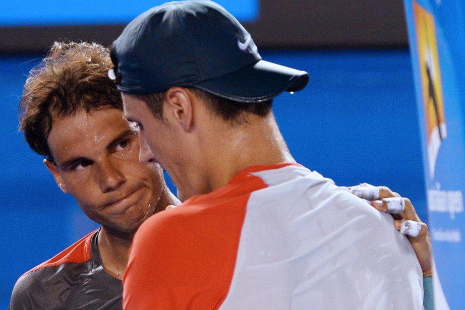 L'adversaire de Rafael Nadal, l'Australien Bernard Tomic (à... (Photo William West, AFP)